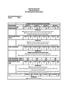 Preschool 3yr old Progress Report