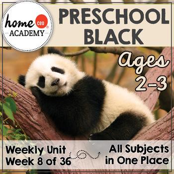 Preschool Age 2-3 - Week 8 Black