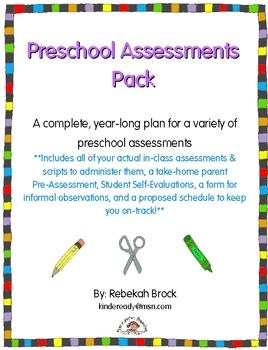 Preschool Assessments Pack: A Year-Long Plan Includes Actu