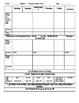Preschool Blank Lesson plan sheet