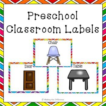 Preschool Classroom Labels and Center Signs