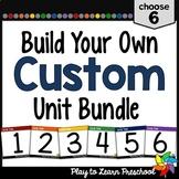 Preschool Curriculum - Create a Custom Bundle 6 pack