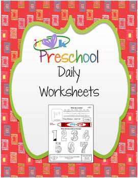 Preschool Days of the Week Worksheet