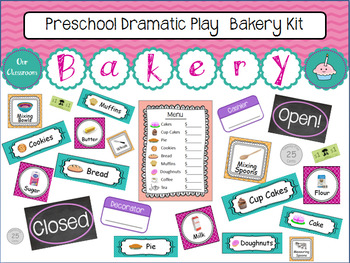 Preschool Dramatic Play Bakery Kit