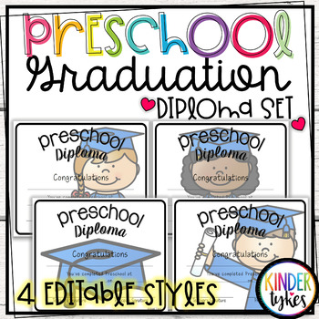 Preschool Graduation Diploma Set