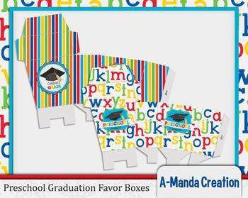 Preschool Graduation Printable Favor Boxes