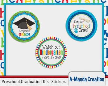 Preschool Graduation Printable Kiss Stickers