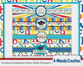 Preschool Graduation Printable Water Bottle Wrappers