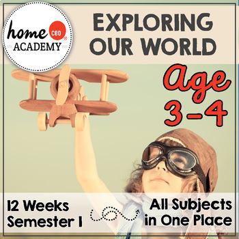 Preschool Homeschool 12-Week Exploring Our World Curriculu