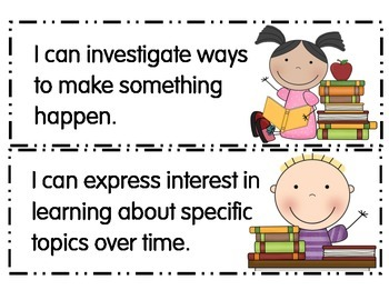 Preschool I Can Statements Connecticut