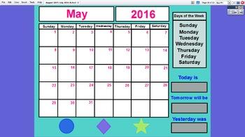 Preschool Interactive Calendar (FULL YEAR) - ActivInspire