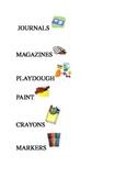 Preschool Labels for Classroom