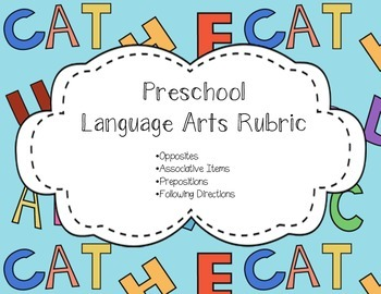 Language Arts Rubric for Preschool