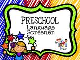 Preschool Language Screener