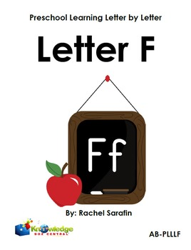 Preschool Learning Letter By Letter:  Letter F