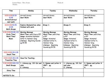 Preschool Lesson Plan Template by ECDC Teacher | Teachers Pay Teachers