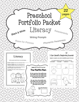 Preschool Literacy Portfolio Packet