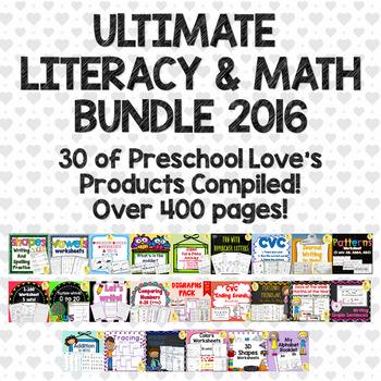 Preschool Love Ultimate Literacy & Math Bundle 2016