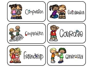 Preschool Manners Flash Cards. Preschool Character Qualiti