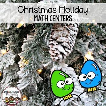 Preschool Math Centers {Christmas}