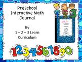 Preschool Math Journal