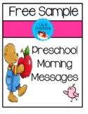 Preschool Morning Messages ~ Free Sample