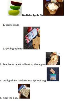 Preschool No Bake Apple Pie