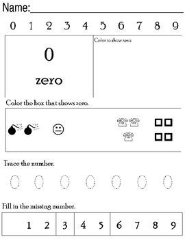 Preschool Number Workbook 0-9