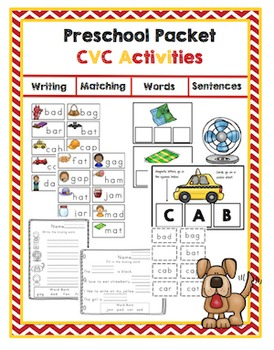 Preschool Packet CVC Activities