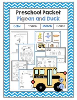 "Preschool Packet ""Pigeon and Duck"""