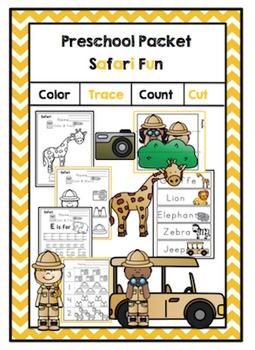 Preschool Packet Safari Fun