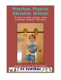 Preschool Physical Education Articles