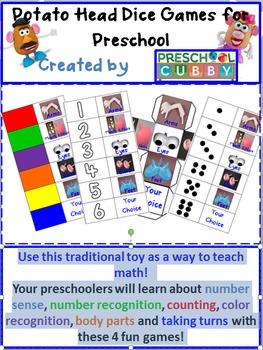Preschool Potato Head Math Games