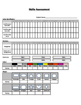 Preschool / PreK / Kindergarten Assessment