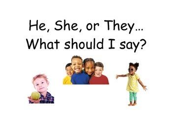 Preschool Pronouns Book