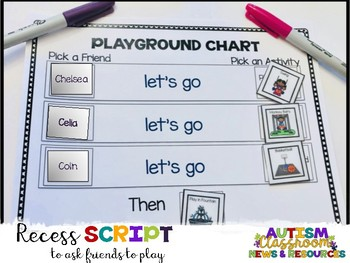 Playground Schedule and Script Freebie (Autism, Special Ed
