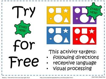 Preschool Shape Mat - Target's Language, Directions, & Vis