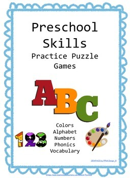 Preschool Skills Puzzle Games Bundle