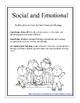 Preschool Social and Emotional Portfolio Packet