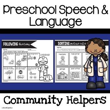 Preschool Speech and Language Community Helpers