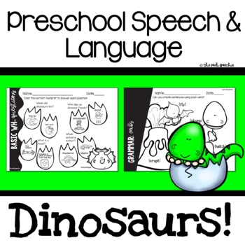 Preschool Speech and Language Dinosaurs