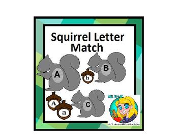Preschool Squirrel Letter Matching