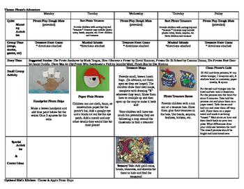Preschool Summer Camp Plans 9 Weeks