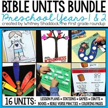 Bible Units for Preschool, 2 Year GROWING BUNDLE