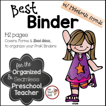 Preschool Teacher BEST BINDER with Melonheadz friends