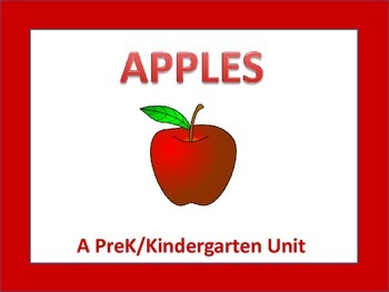 PreK/K Unit: Apples