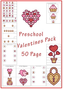 Preschool Valentines Activity Pack