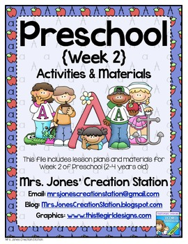 Preschool {Week 2} Activities and Materials