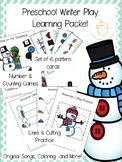 Preschool Winter Play Learning Packet