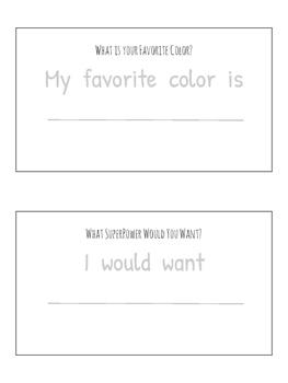 Preschool Writing Journals-August Edition